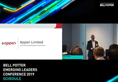 Appen - Bell Potter Emerging Leaders Conference 2019