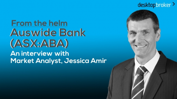 From the helm: Auswide Bank's CEO & MD Martin Barrett