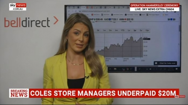 Sky News with Jessica Amir: Coles and BHP reporting season